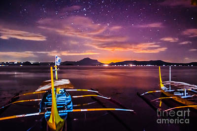 Photograph - Night Sky Over Taal Crater by Michael Arend