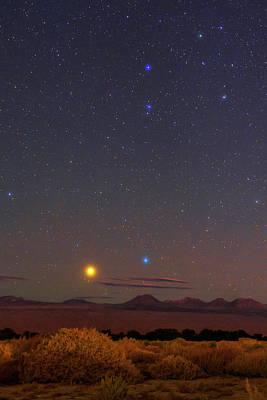 Night Sky Over The Atacama Desert Art Print