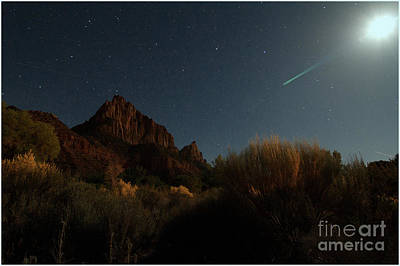 Photograph - Night Sky Over Zion by Angelique Olin