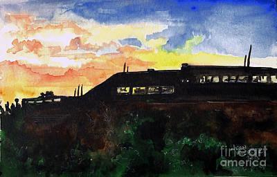 Menard Painting - Night Sky Series 3 by Jean Kieffer