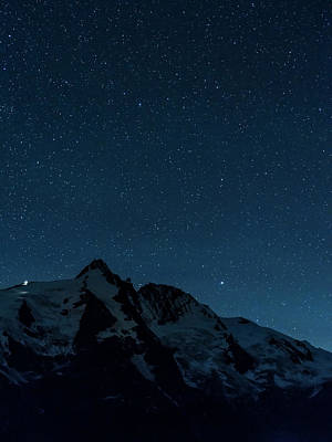 Night Sky With Millions Of Stars Over Mt Art Print by Martin Zwick
