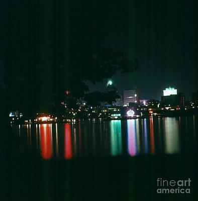Photograph - Night Skyline Vancouver by Vintage Photography