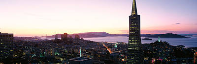 Night Skyline With View Of Transamerica Art Print by Panoramic Images