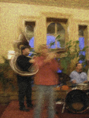 Sousaphone Wall Art - Photograph - Night Sounds by Curtis Dale