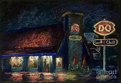 Night Spot Art Print by Bruce Schrader