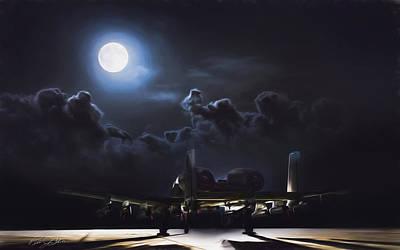 A-10 Digital Art - Night Stalker Awaits by Peter Chilelli