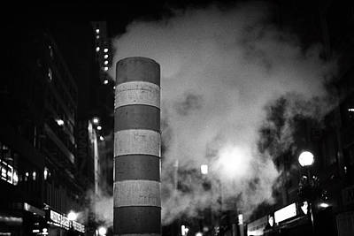Photograph - Night Steam Nyc by Dave Beckerman