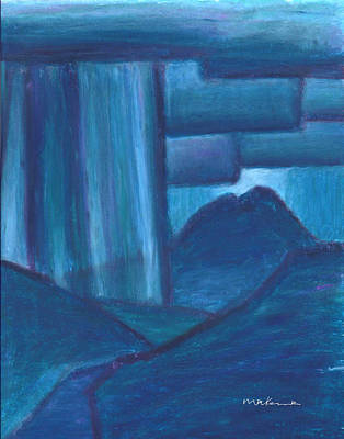 Painting - Night Storm Over Mt. Sopris by Carrie MaKenna