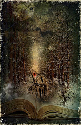 Crow Digital Art - Night Story by Svetlana Sewell