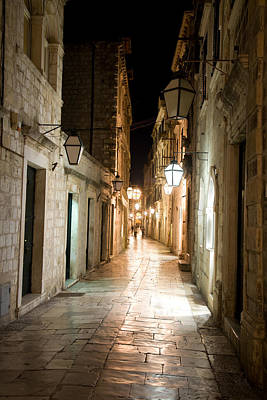 Photograph - Night Street by Alexey Stiop