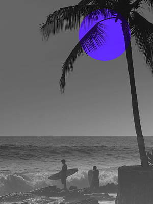 Night Surf Art Print