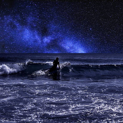 Photograph - Night Surfing by Laura Fasulo