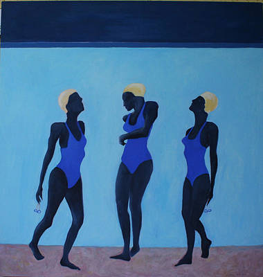 Painting - Night Swimmers by Victoria Sheridan