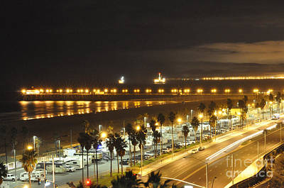 Photograph - Night Time Huntington Beach by Clayton Bruster
