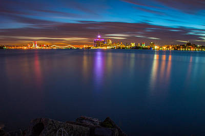 Photograph - Night Time In The D by Pravin  Sitaraman