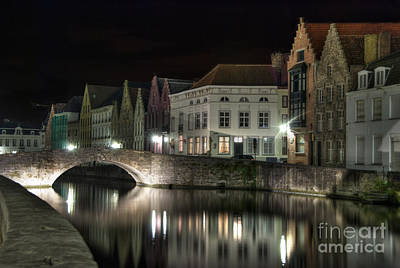 Photograph - Night Time On The Canal by Juli Scalzi