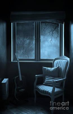 Creepy Digital Art - Night Time Story Room by Svetlana Sewell