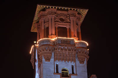 Christmas Holiday Scenery Photograph - Night Tower by Kenneth Albin