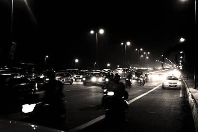 Photograph - Night Traffic by Sumit Mehndiratta