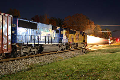 Photograph - Night Train 2004 A by Joseph C Hinson Photography