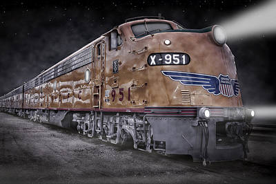 Photograph - Night Train Coming by Ken Smith