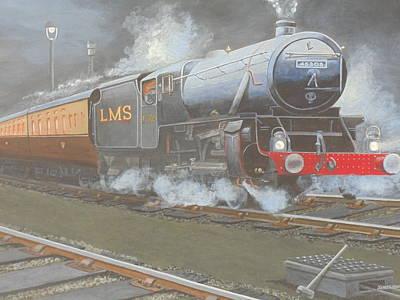 Night Train Art Print by James Lawler