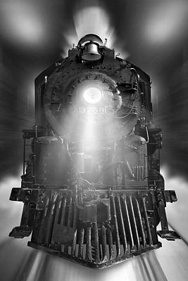 Mike Mcglothlen Art Photograph - Night Train On The Move by Mike McGlothlen