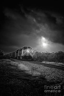 Car Window Photograph - Night Train by Robert Frederick