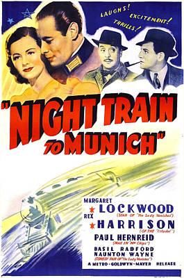 Night Train To Munich, Us Poster, Top Art Print by Everett