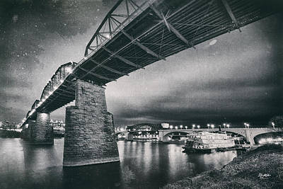 Photograph - Night Under The Bridge by Steven Llorca