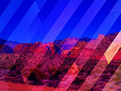 Las Vegas Artist Mixed Media - Night Vail by Michelle Dallocchio