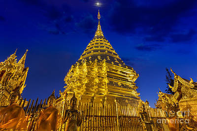 Lord Buddha Photograph - Night View Doi Suthep  by Anek Suwannaphoom