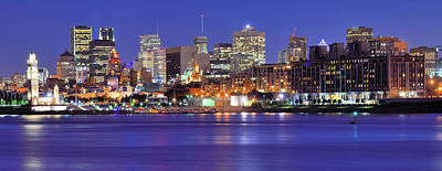 Photograph - Night View Of Montreal Skyline by Wei Fang