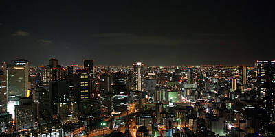 Photograph - Night View Of Osaka by Billy Gao