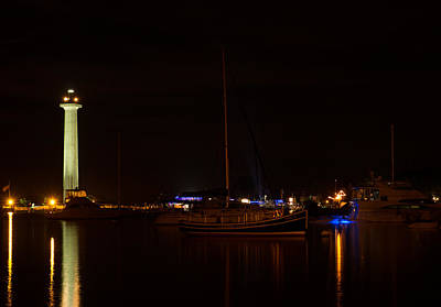 Photograph - Night View Of Put-in-bay by Haren Images- Kriss Haren