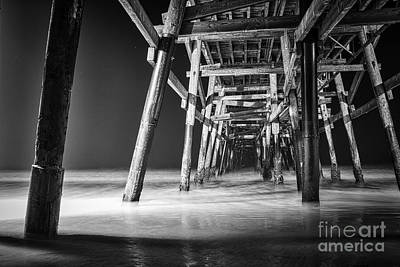 San Clemente Photograph - Night View Under San Clemente Pier by Ana V Ramirez