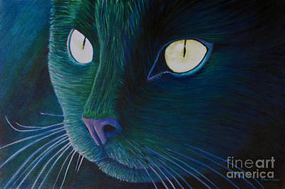 Kittens Painting - Night Vision by Brian  Commerford