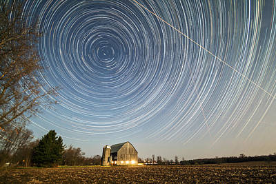 Time Stack Photograph - Night Vision by Matt Molloy