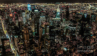 Night View From Empire State Building Original by Kim Lessel
