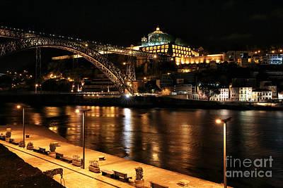 Luis Sales Photograph - Night Walk Along The Douro by John Rizzuto