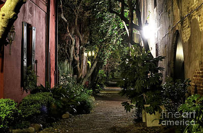 Night Walk In Charleston Art Print by John Rizzuto