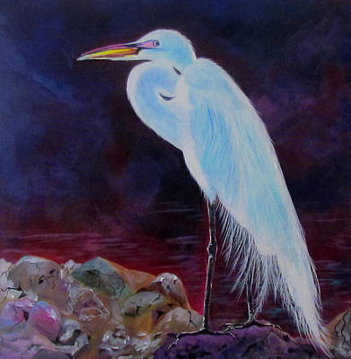 Painting - Night Watcher by Susan Duxter