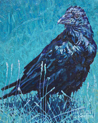 Nocturnal Animals Painting - Night Watchman by Patricia A Griffin
