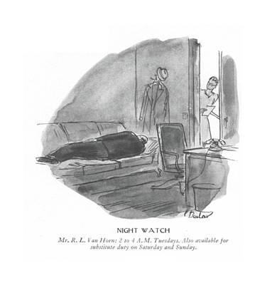 Night Watch  Mr. R.l.van Horn: 2 To 4 A.m Art Print