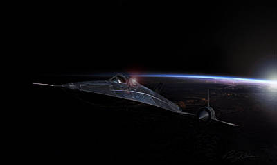 Kelly Digital Art - Night Whisper Sr-71 by Peter Chilelli