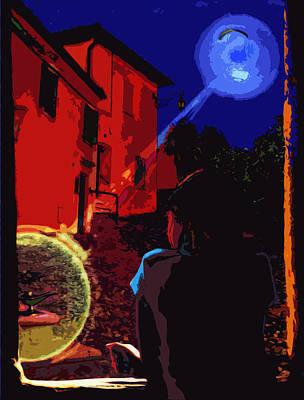 Port Digital Art - Night Window Legend by Yevgeni Kacnelson