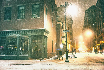 Night - Winter - New York City Art Print