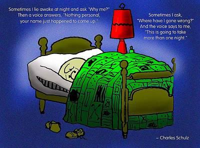 Night Worries Print by Mike Flynn