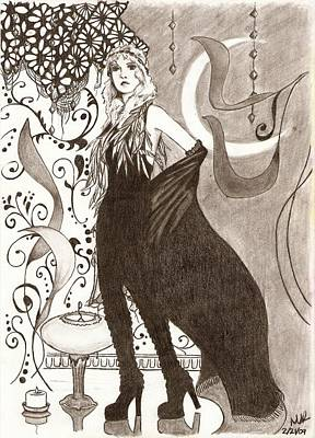 Stevie Nicks Drawing - Nightbird by Michelle Kinzler