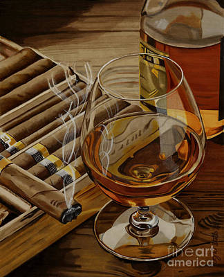 Still Life Drawing - Nightcap by Cory Still